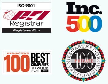 ISO 9001 award logos